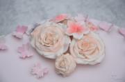 Tauftorte mit Rosen und Schmetterlingen (4)